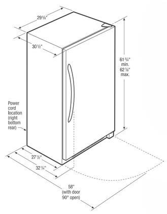 frigidaire fffu14f2qw 30 inch white freezer with 13.8 cu