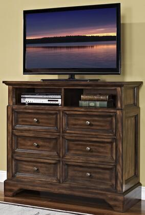 Picture of 00-186-078 Grandview 48 Media Chest with 6 Drawers  Detailed Molding and Easy Pull Knobs  in