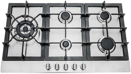 Picture of 850SLTX-E 30 Gas Cooktop with 5 Sealed Burners  Cast Iron Grates  Electronic Ignition  Flame Failure Safety Device and Easy-to-Clean Construction in Stainless