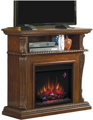 Picture of 23DE1447-W502 Corinth 23 Electric Fireplace with 100 Energy Efficient  Open Shelf  Realistic Flame Effect  Finest Hardwoods and Wood Veneers in Burnished