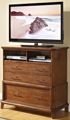 Picture of 00-139-078 Clark's Crossing Media Chest with Three Drawers  Two Cubbies  Decorative Hardware  Easy Pull Rails  Tapered Legs and Detailed Molding  in