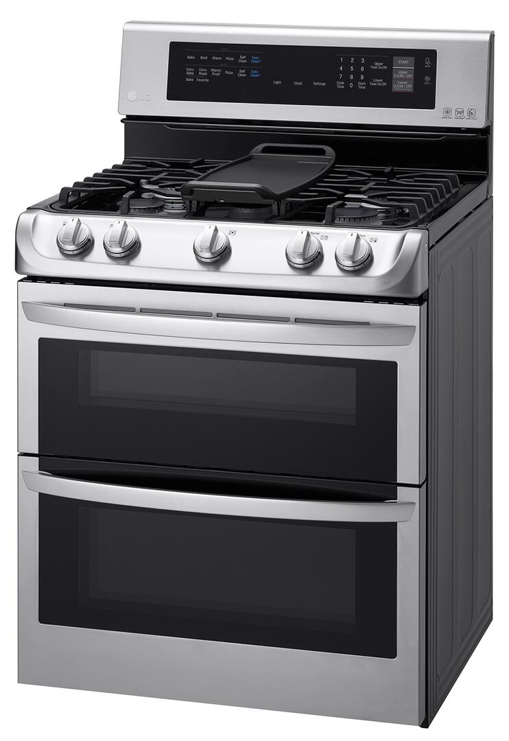 Kitchen gas stove top view - View More