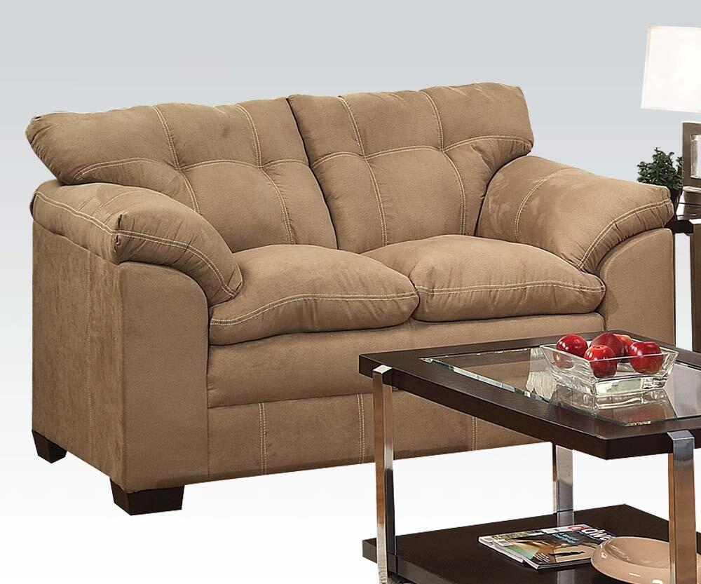 Acme Furniture 50361 Lucille Series Microfiber Stationary Loveseat Appliances Connection
