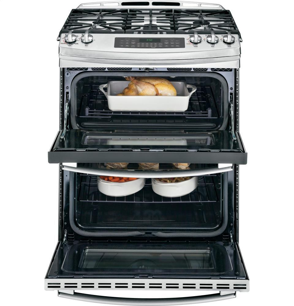 ge profile pgs950sefss slide in double oven gas range appliances connection appliances. Black Bedroom Furniture Sets. Home Design Ideas