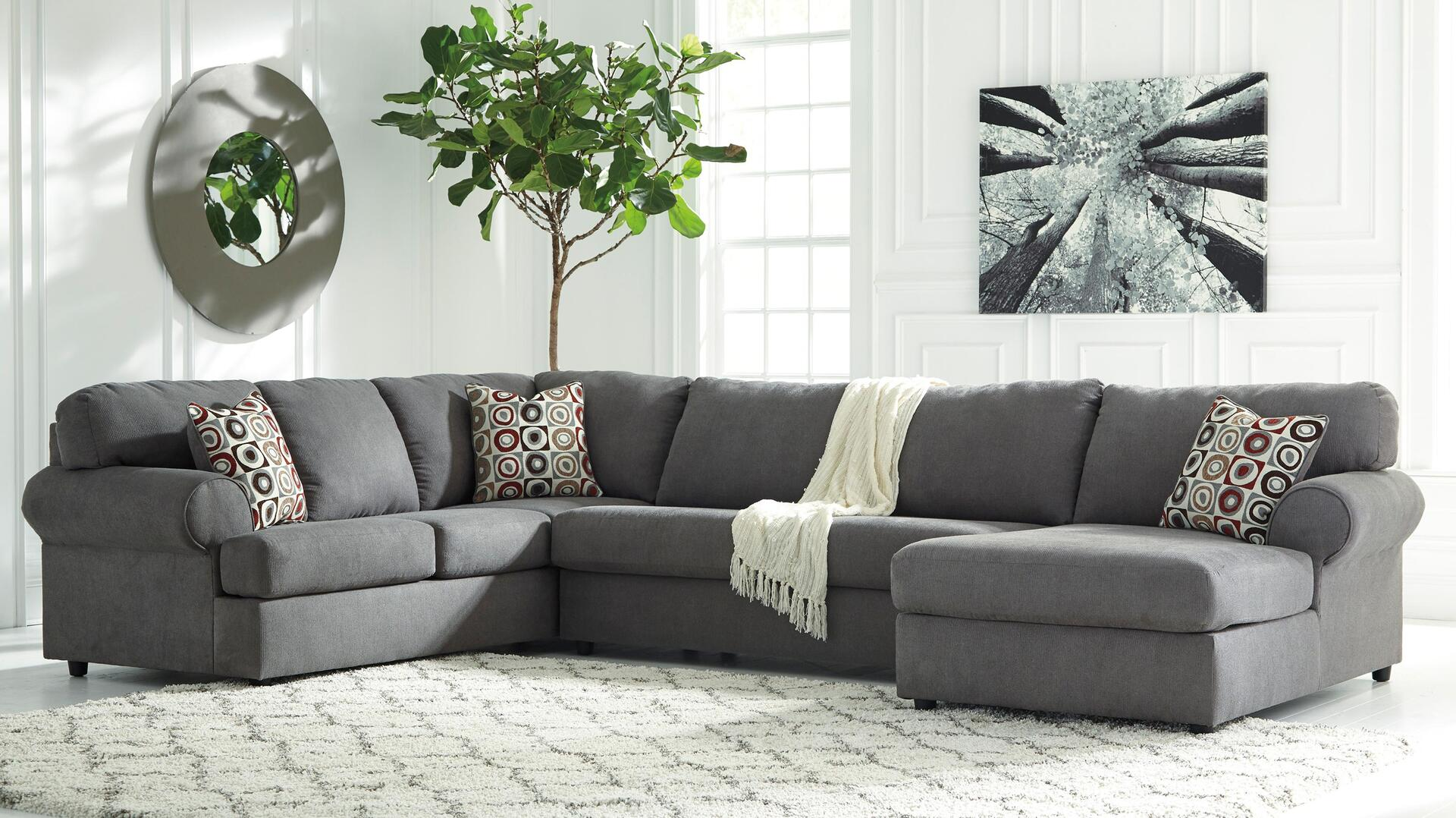 Signature Design By Ashley Camila Sectional Sofa With Right Arm Facing Chaise
