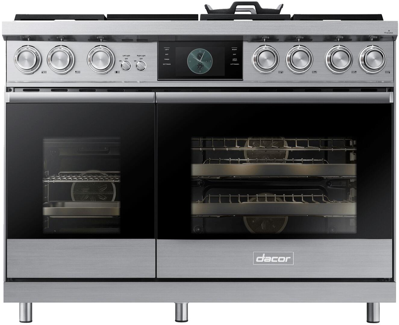 dacor dop48m96dls 48 inch modernist series stainless steel dual fuel rh appliancesconnection com Dacor Gas Cooktop Parts Dacor Gas Range