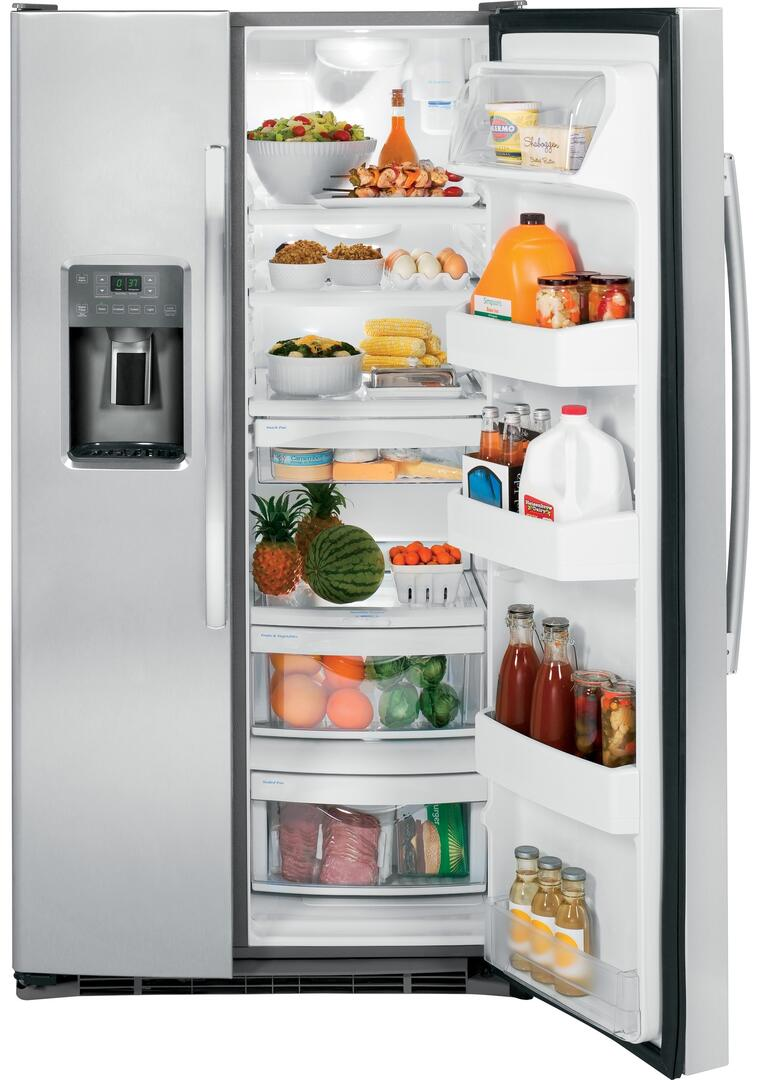 Ge Gss25gghww 36 Inch Side By Side Refrigerator With 25 4