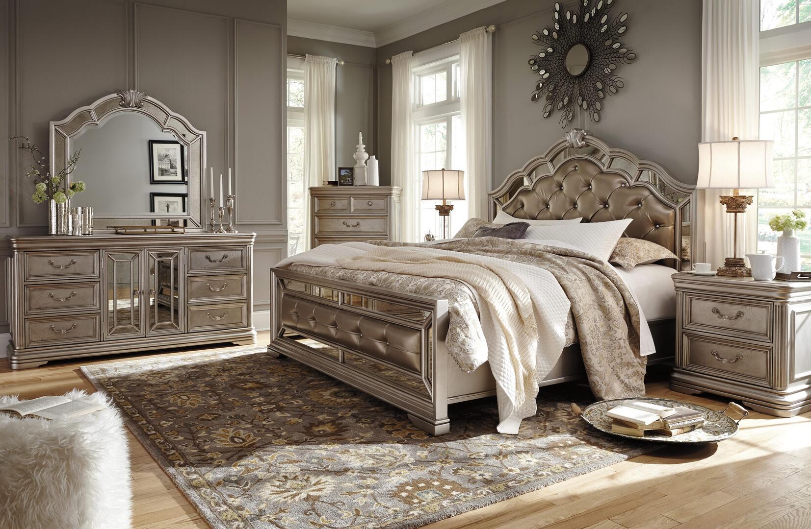 Signature Design by Ashley Birlanny 4 Piece California King Size Bedroom Set