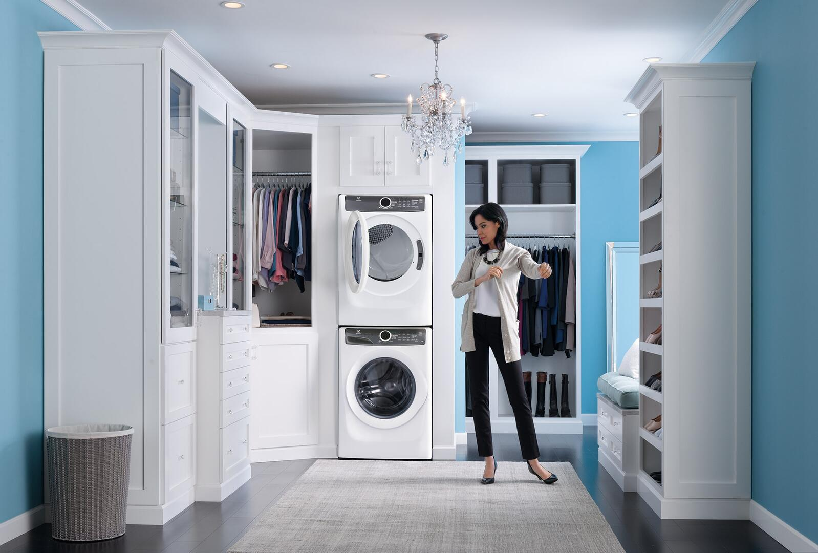 Electrolux EFLW417SIW 27 Inch LuxCare Series 4.3 cu. ft. Front Load ...