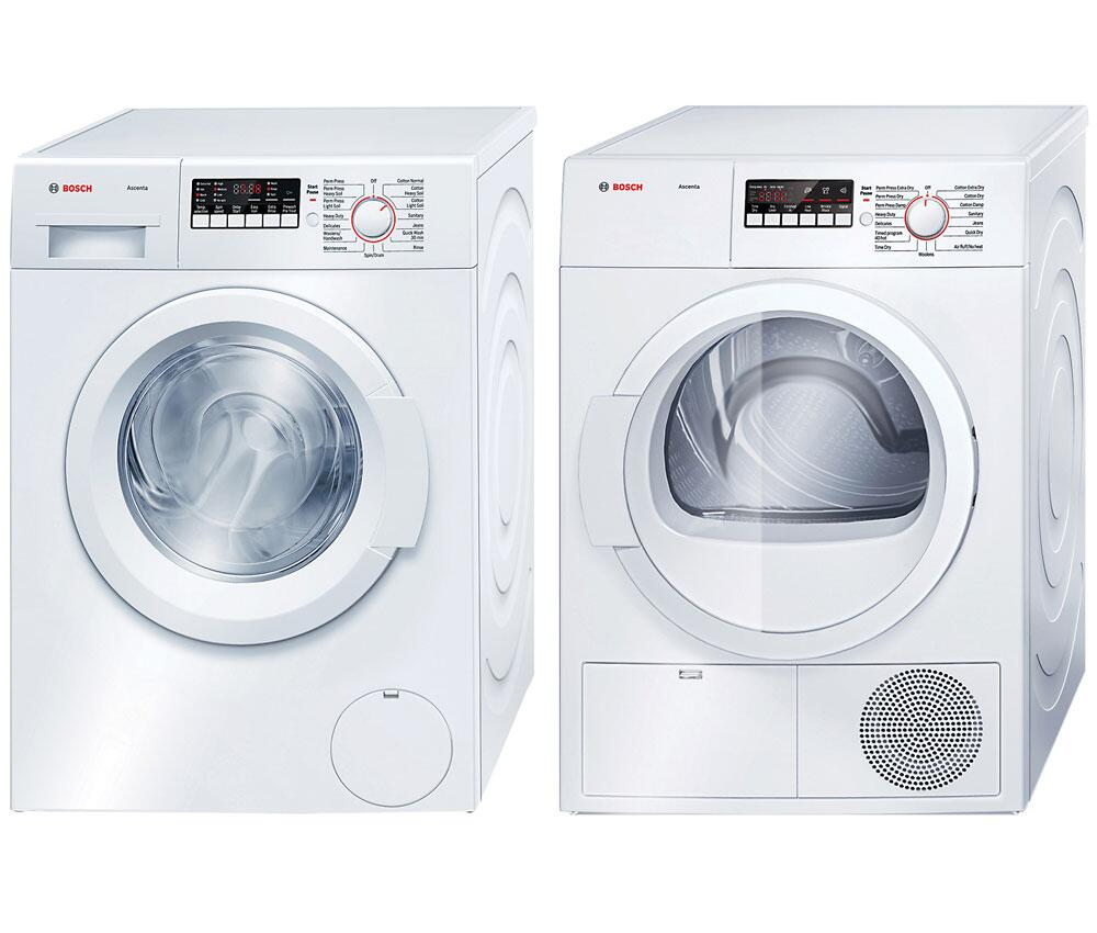Bosch Dryer: Bosch WAP24200UCPAIR1 Ascenta Washer And Dryer Combos