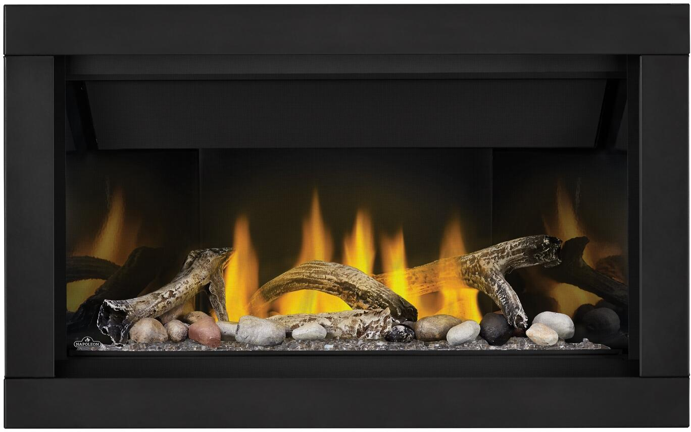 Napoleon Ascent Linear Crushed Glass Clear Mineral Rock Driftwood Prrp Premium Surround
