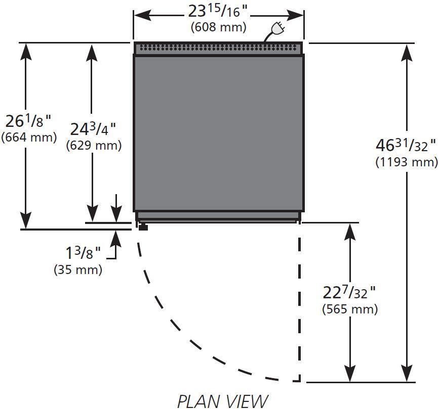 True GDM7FLD 24 Inch Freestanding Countertop Glass Door Refrigerator ...