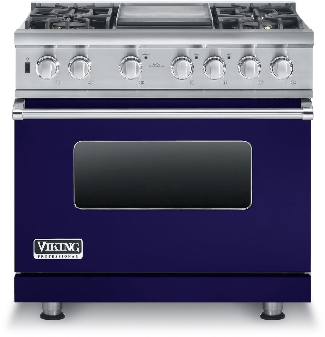 Viking vdsc5364gcb 36 inch 5 series dual fuel freestanding for Viking wok burner