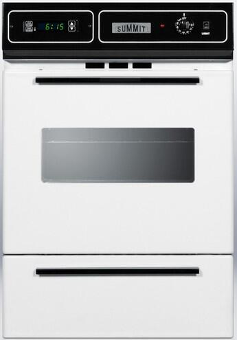Summit Wtm7212kw 24 Inch White Single Wall Oven