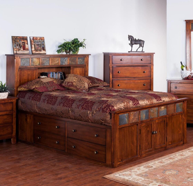 Sunny Designs 2334dcsqbbedroomset Santa Fe Queen Bedroom