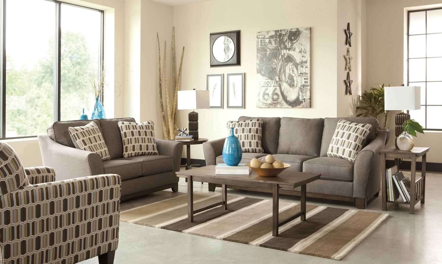 Benchcraft 4380438set3pc janley living room sets for Living room furniture 0 finance