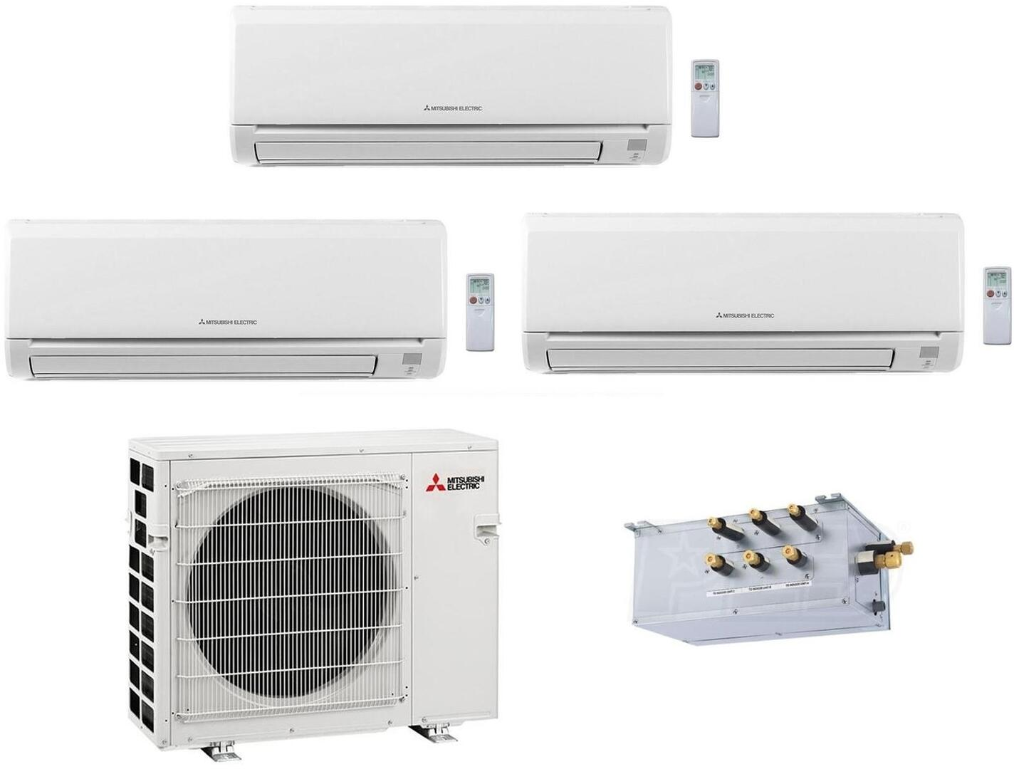Mitsubishi 864958 M Series 28400 BTU Triple-Zone Mini Split System