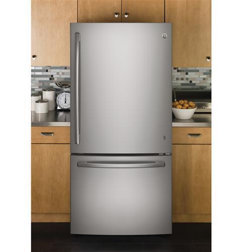 Ge Gde25eskss 33 Inch Stainless Steel Bottom Freezer