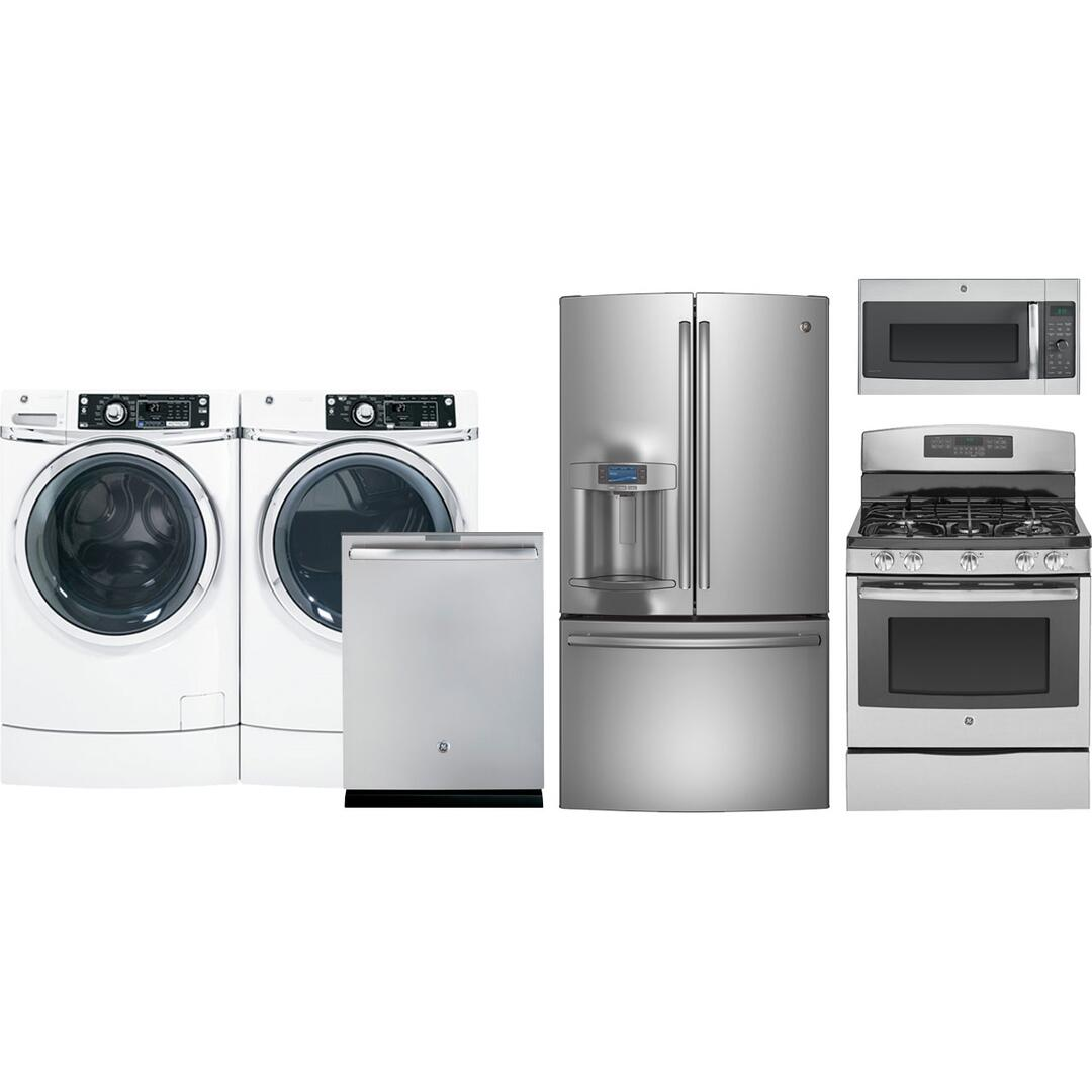 Complete Kitchen Cabinet Packages: GE Profile PFE28RSHSS6PCKIT1 Kitchen Appliance Packages