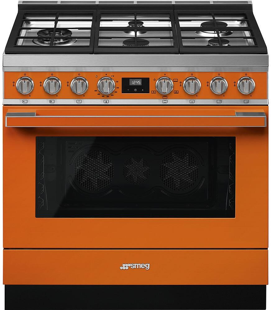 Smeg cpf36uggor 36 inch portofino series gas freestanding for Best slide in gas range under 2000