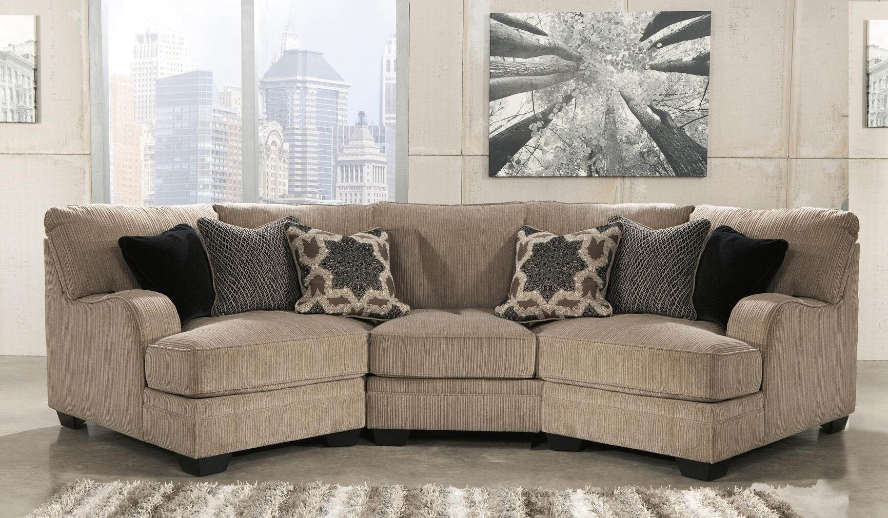 sectional with chaise and cuddler signature design by 30500764675 katisha series 7878