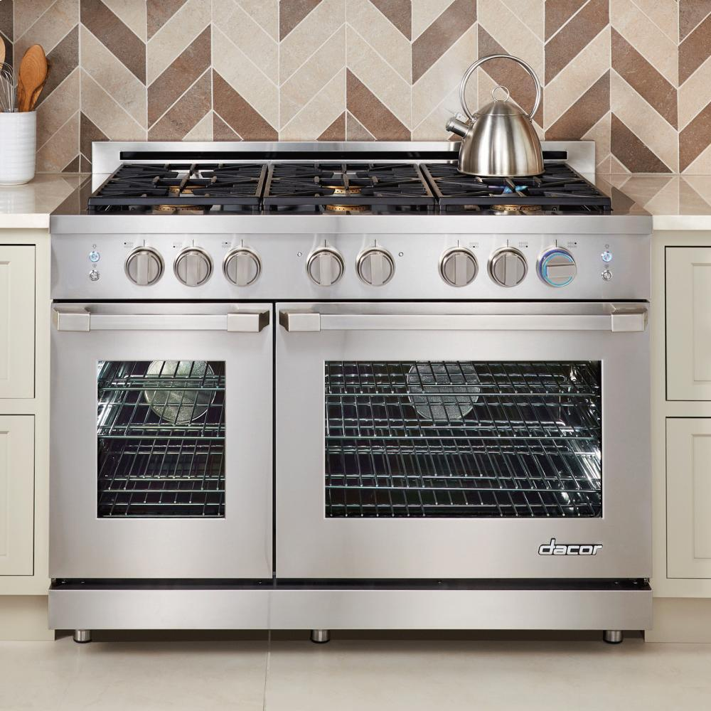 Dacor rnrp48gclp 48 inch gas freestanding appliances for Dacor 48 rangetop