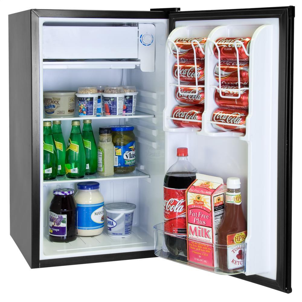Haier hnse032bb compact refrigerator with 3 2 cu ft capacity in black appliances connection - Haier america corporate office ...