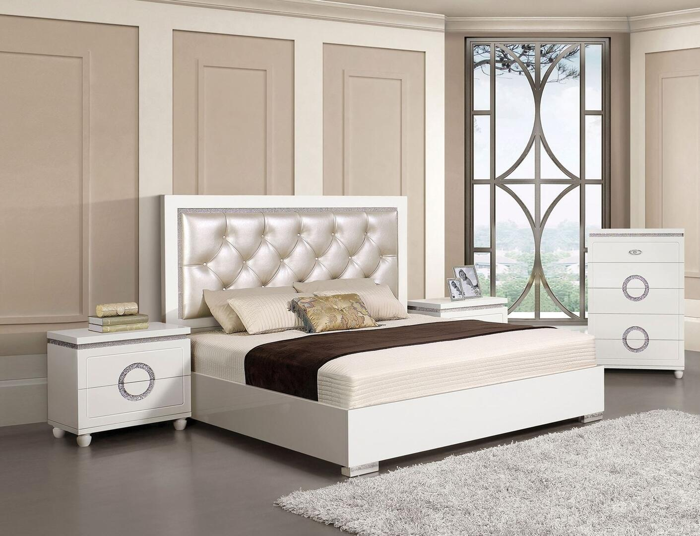 d39cad40b Acme Furniture 20237EK4SET Vivaldi King Bedroom Sets | Appliances ...