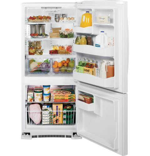 Ge Gbs20eghww 30 Inch Bottom Freezer Refrigerator With 20