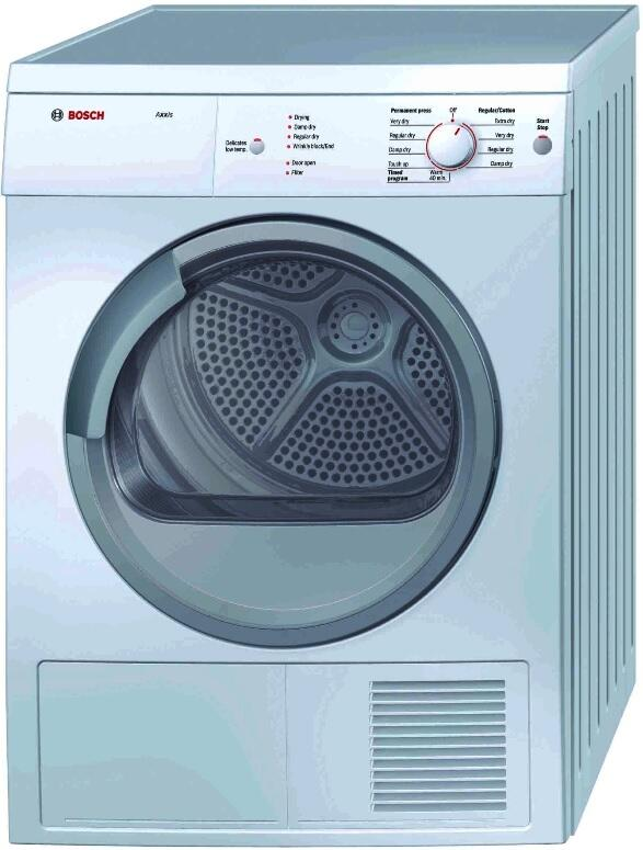 bosch wtv76100us axxis series electric dryer in white. Black Bedroom Furniture Sets. Home Design Ideas