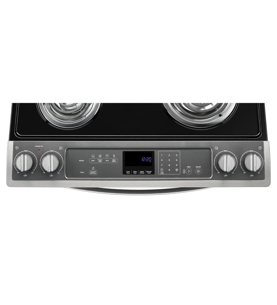 Whirlpool WEC530H0DB 30 Inch Slide-in Electric Range with Coil ...
