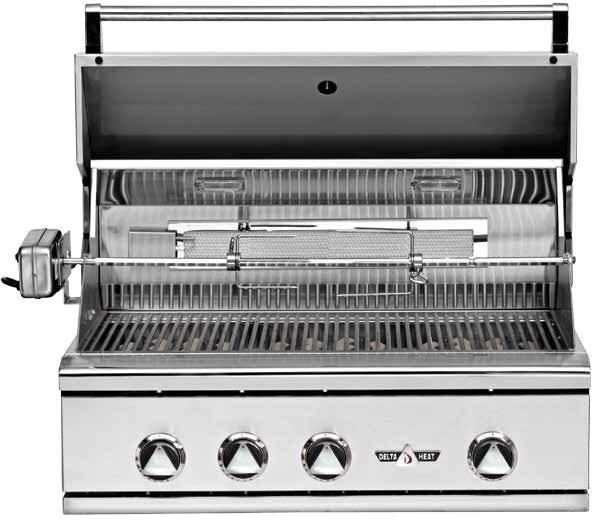 Delta Heat Dhbq32gcl 32 Inch Built In Grill In Stainless