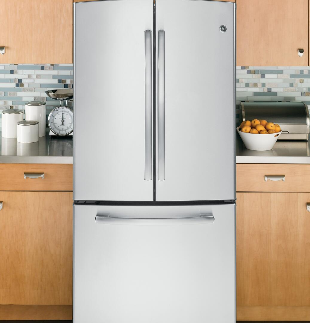 GE GNE22GSESS Bottom Freezer Refrigerator With 22.1 Cu. Ft