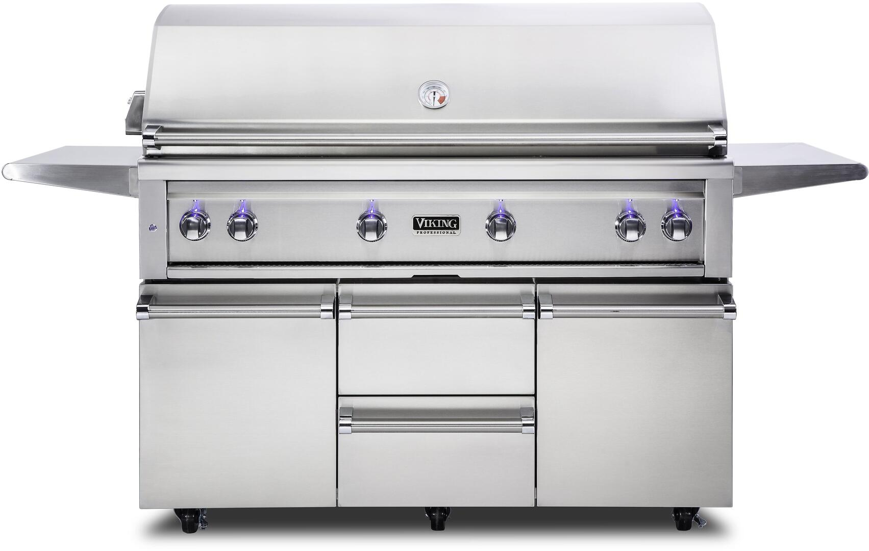 Viking VQGFS5540NSS 80 Inch Freestanding Grill, in Stainless Steel ...