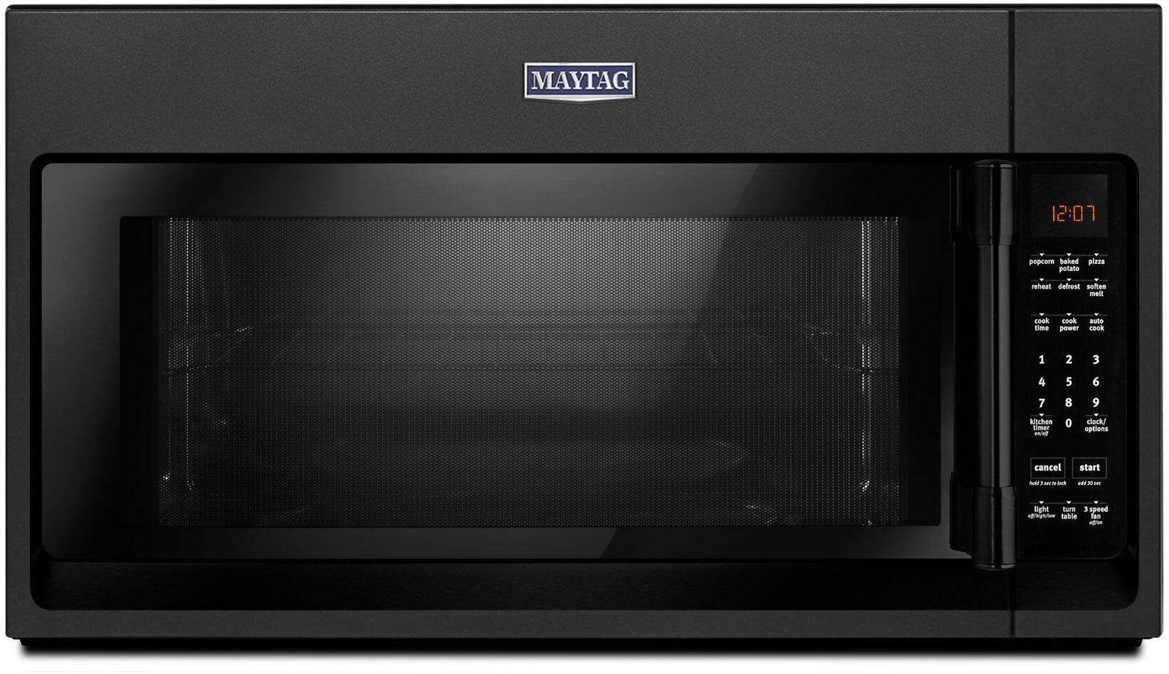 Maytag MMV1174HK 30 Inch Over the Range 1 7 cu  ft  Capacity Microwave Oven