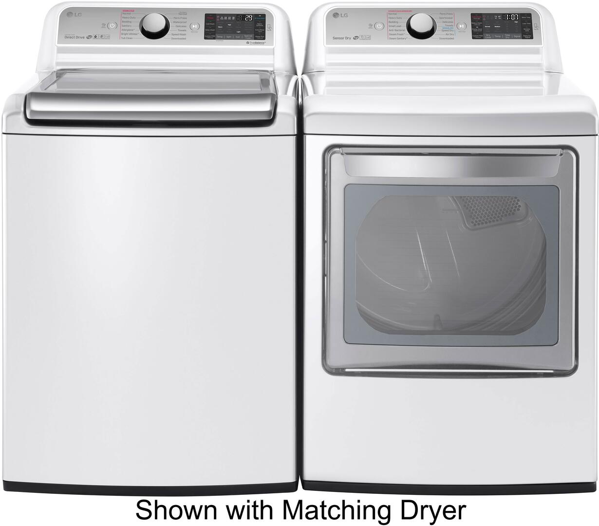 Lg Wt7600hwa 27 Inch White 5 2 Cu Ft Top Load Washer
