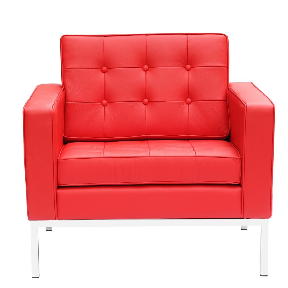 Fine Mod Imports Fmi2201red Button Series Leather Armchair