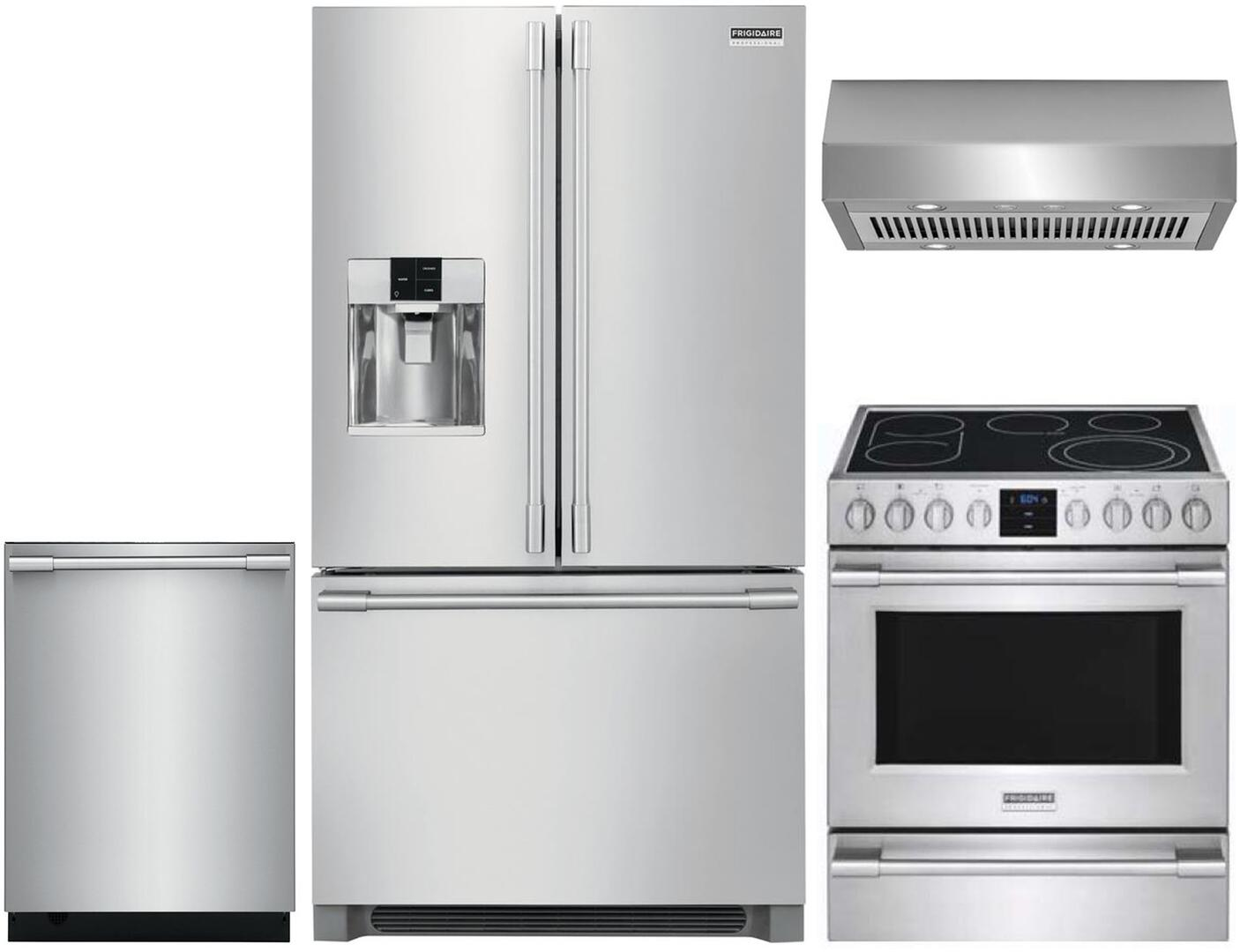 Frigidaire Professional 1089402 4 piece Stainless Steel Kitchen Appliances  Package