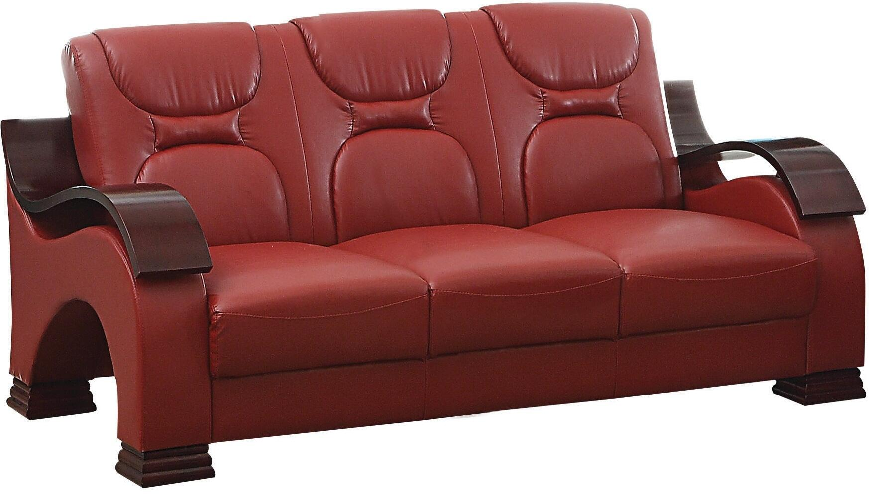Glory furniture g489s stationary faux leather sofa for Furniture 5 years no interest