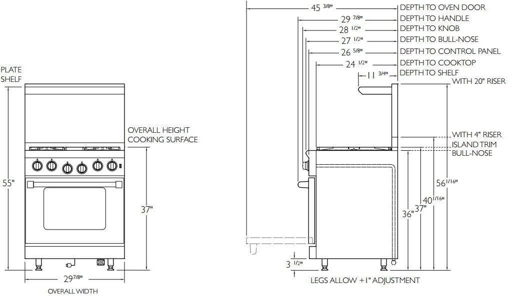 american range arr304n 30 inch heritage series gas