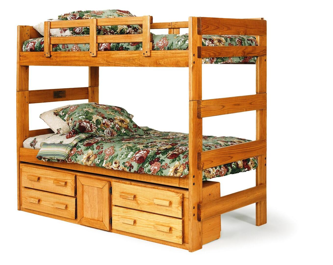 Chelsea home furniture 36620011305 twin size loft bed for Bunk bed and bang