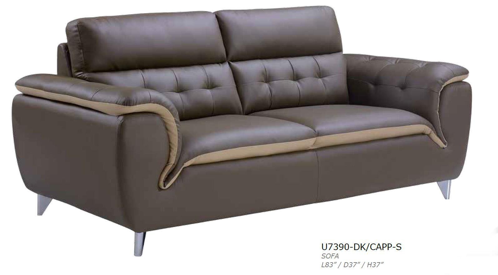 Global Furniture Usa U7390dkcapps Stationary Bonded Leather Sofa Appliances Connection