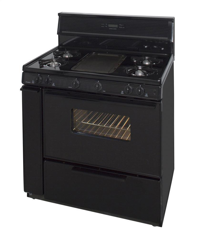 Premier slk849bp 36 inch gas freestanding range with open for Best slide in gas range under 2000