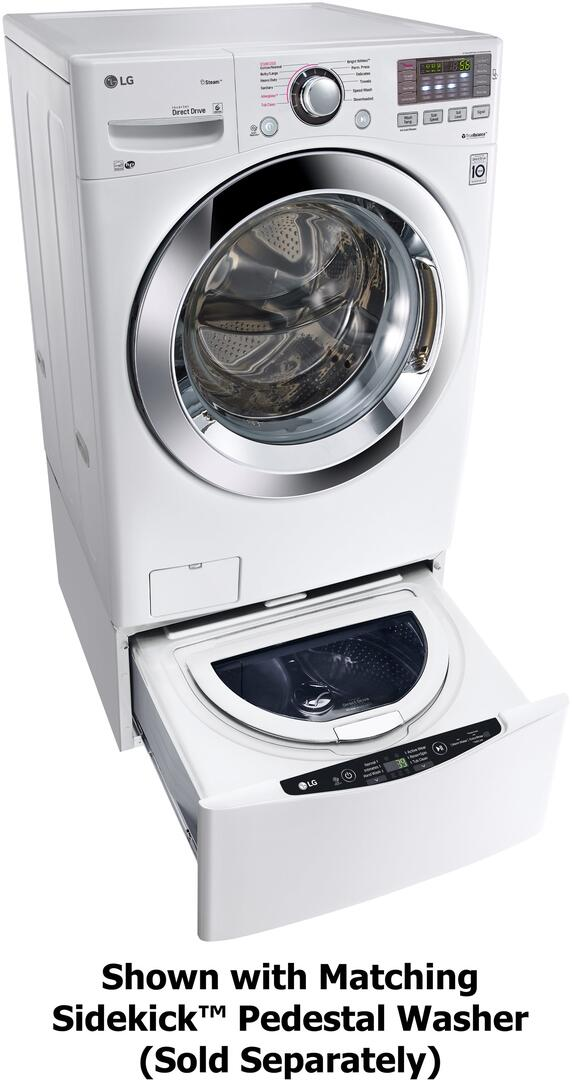 Lg Wm3670hwa 27 Inch 4 5 Cu Ft Front Load Washer In