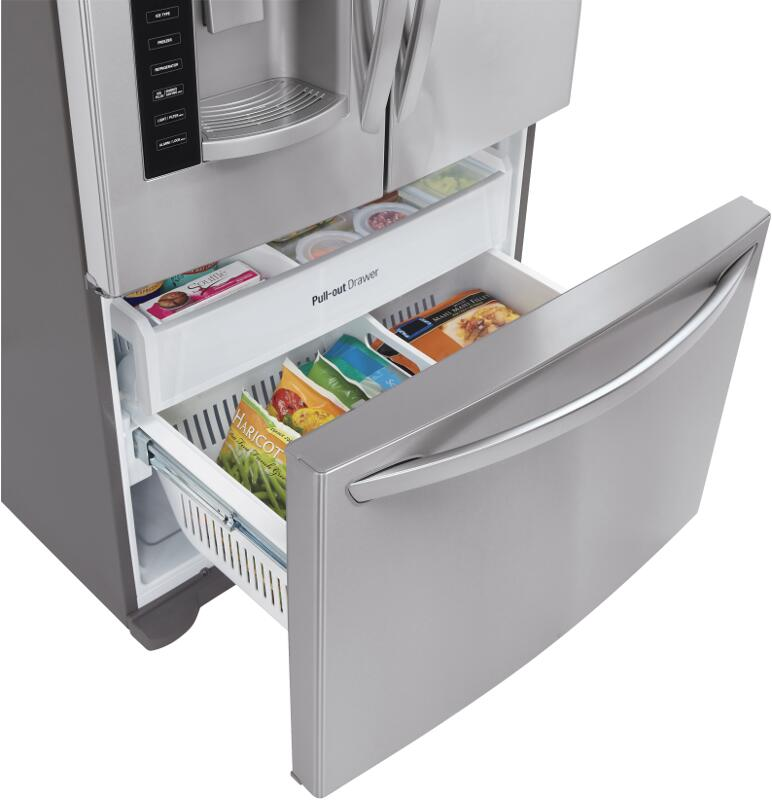 LG LFX25974ST 36 Inch Stainless Steel French Door Refrigerator With 24.1  Cu. Ft. Capacity | Appliances Connection