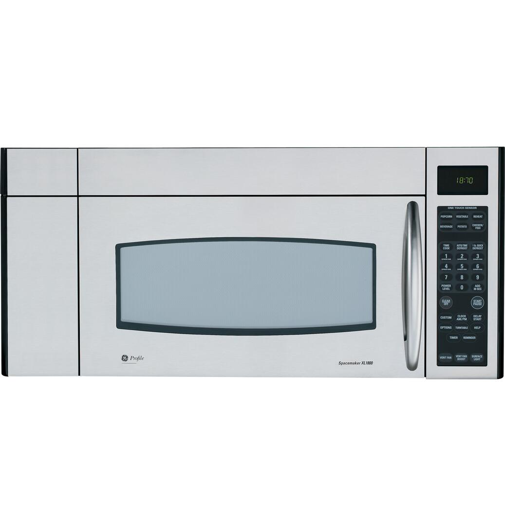GE JVM3670SK 1.8 cu. ft. Over the Range Microwave Oven with 300 CFM ...