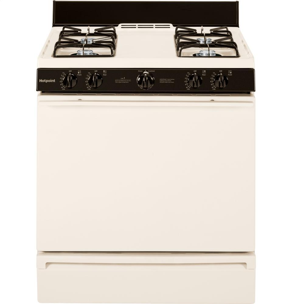 Hotpoint rgb518pchct 30 inch gas freestanding range with for Best slide in gas range under 2000