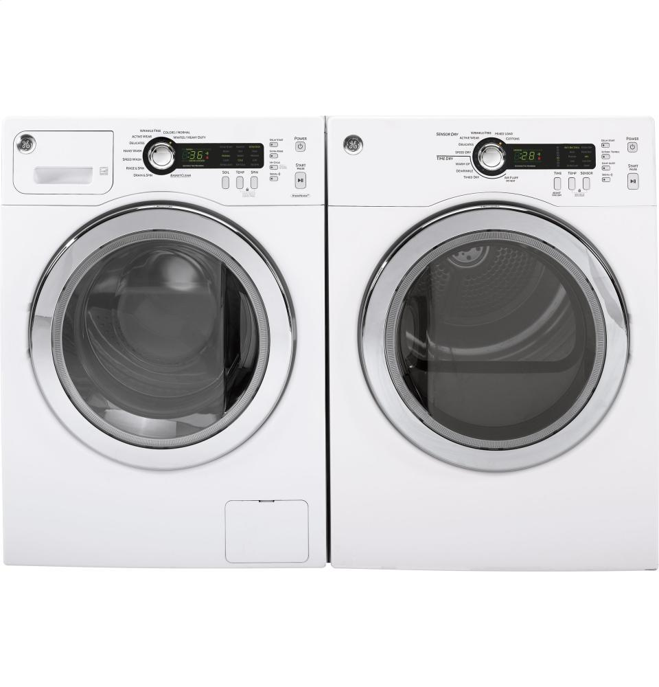 Ge Dcvh480ekww 24 Inch White 4 0 Cu Ft Electric Dryer