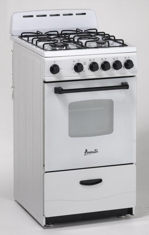 Avanti gr2011cw 20 inch gas freestanding range with sealed for Best slide in gas range under 2000