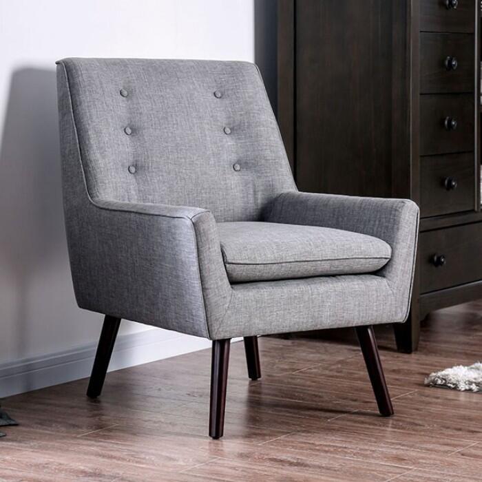 Terrific Furniture Of America Cmac6925Gy Bralicious Painted Fabric Chair Ideas Braliciousco